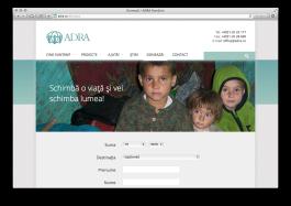 Pagina de donează a site-ului adra.ro